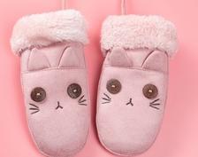 大布豆儿童加绒加厚保暖手套9.9元(需用券)-天猫
