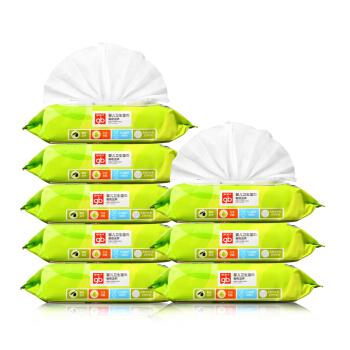 gb好孩子婴儿湿巾80片*8包*2件69.58元