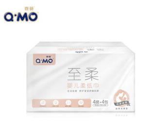 奇莫QMO婴儿柔纸巾儿童面巾纸干湿两用3层100抽16包*3件207元包邮(合69元/件)