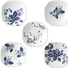 Wedgwood玮致活靛蓝草莓系列骨瓷餐盘5件套40000812¥317.73