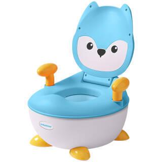 世纪宝贝(babyhood)儿童坐便器婴儿便盆尿盆小马桶男女宝宝通用小狐狸抽屉便糟湖蓝色BH113C*3件107.01元(合35.67元/件)