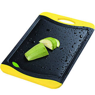 红凡厨房菜板砧板竹炭切菜板切水果长方形宝宝辅食防滑案板塑料刀板面板比实木防霉中号/25x36.5cm*2件30.68元(合15.34元/件)