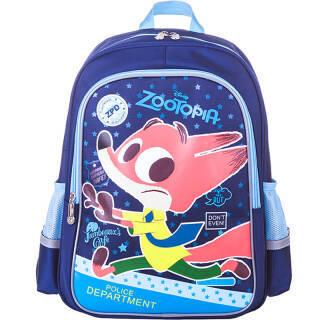 迪士尼(Disney)疯狂动物城小学生书包136年级儿童卡通双肩男女减负背包藏青狐狸尼克*5件187.5元(合37.5元/件)