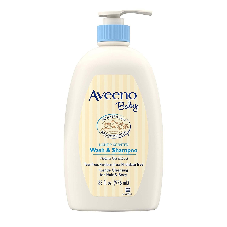 【中亚Prime会员】Aveeno艾维诺婴儿温和洗发水和沐浴露二合一976ml到手价130元