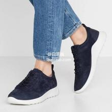 36码,ECCO爱步FLEXURE随溢系列女士系带打孔磨砂真皮运动鞋292343¥384.16