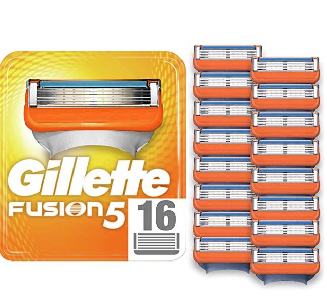 中亚Prime会员!Gillette吉列Fusion5锋隐男士剃须5层刀片16件装¥170