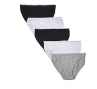 【亚马逊海外购】CalvinKlein卡尔文·克莱女士棉质弹力logo比基尼内裤多件装到手价¥131.47