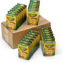 折¥7.78/盒,Crayola绘儿乐24色彩色蜡笔*24盒¥171